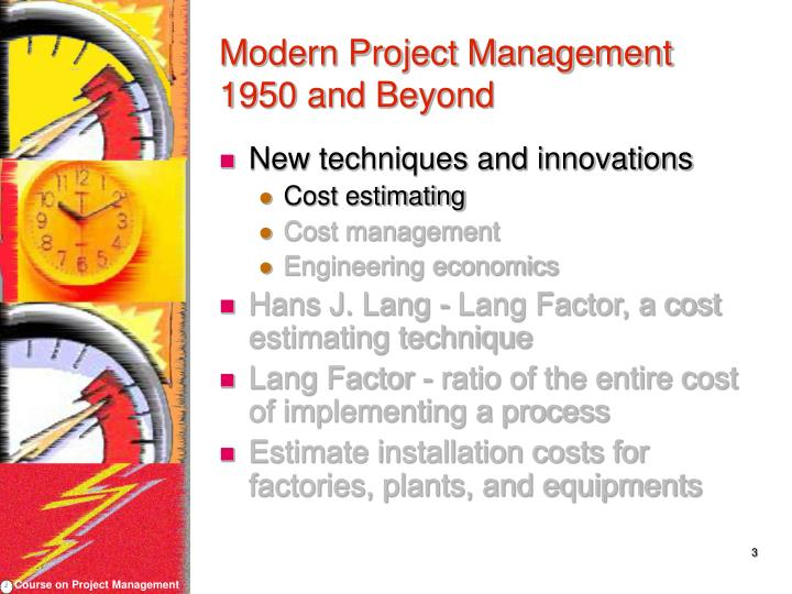Modern project management 1950 and beyond