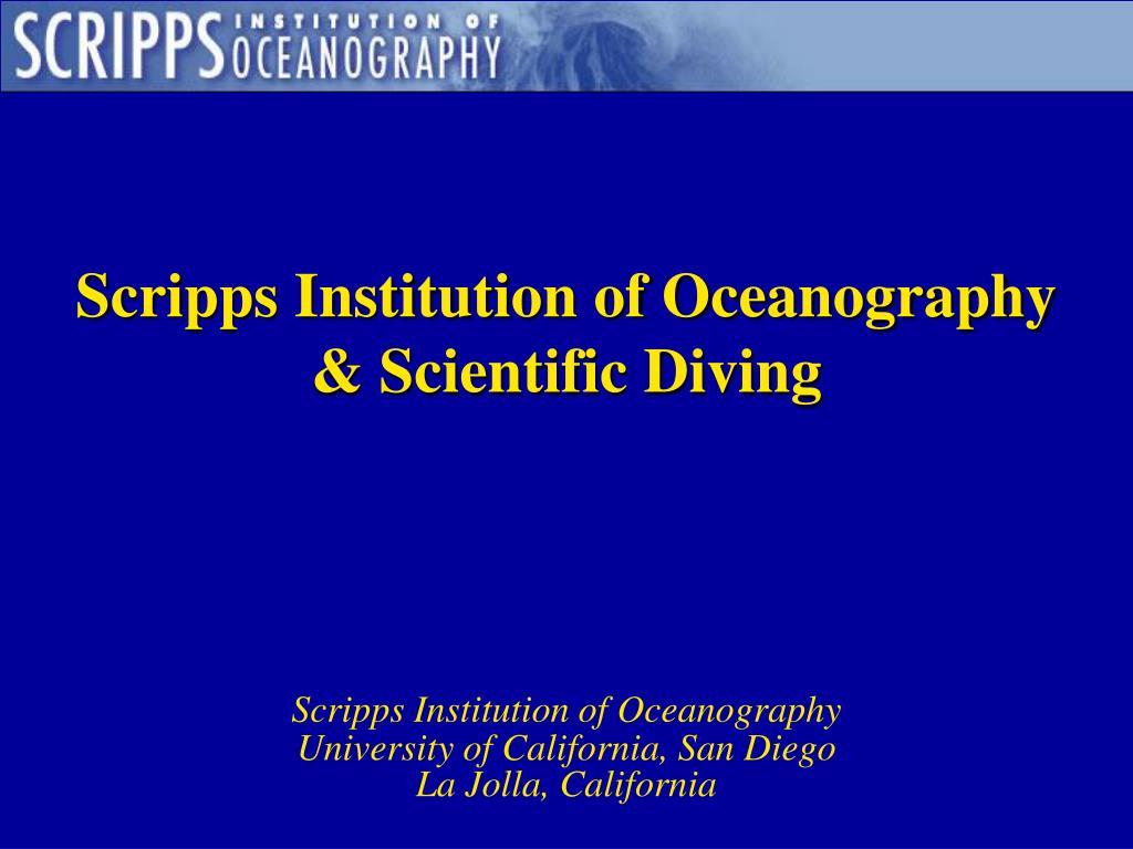 scripps institution of oceanography scientific diving l.