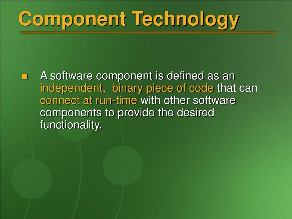 Component Technology