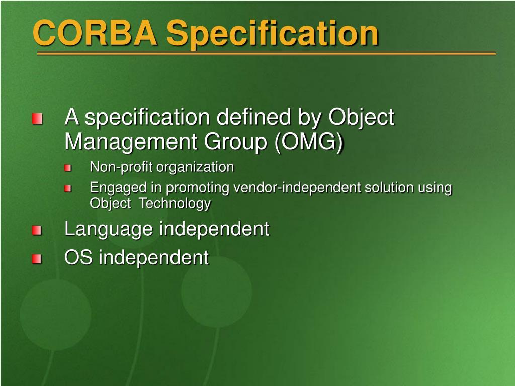 CORBA Specification