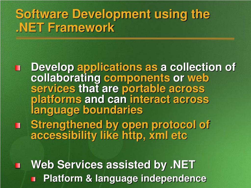 Software Development using the .NET Framework