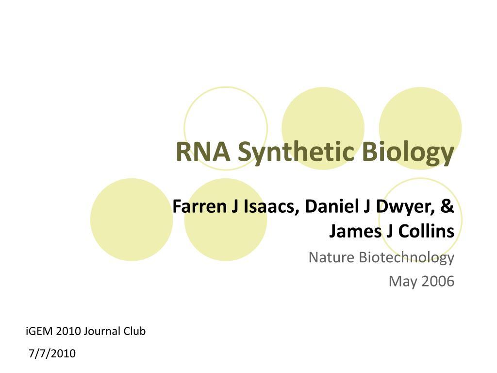 rna synthetic biology l.