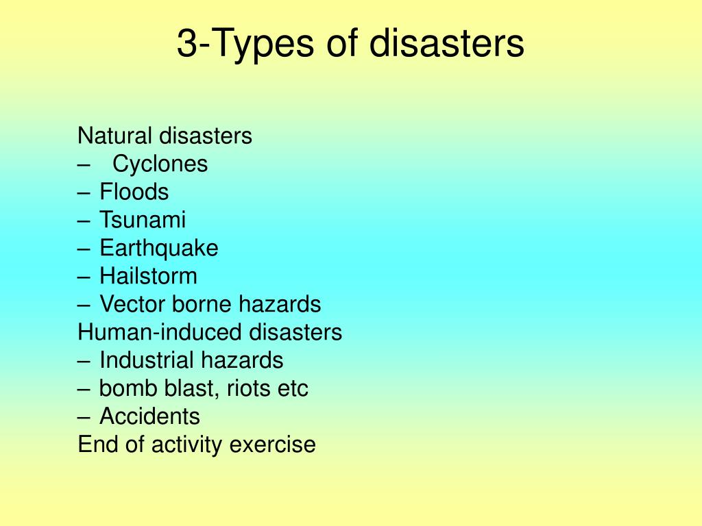 3-Types of disasters