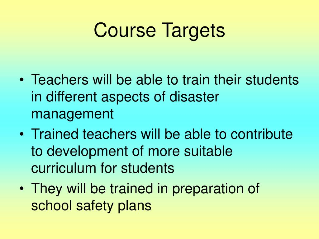 Course Targets