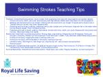 swimming strokes teaching tips