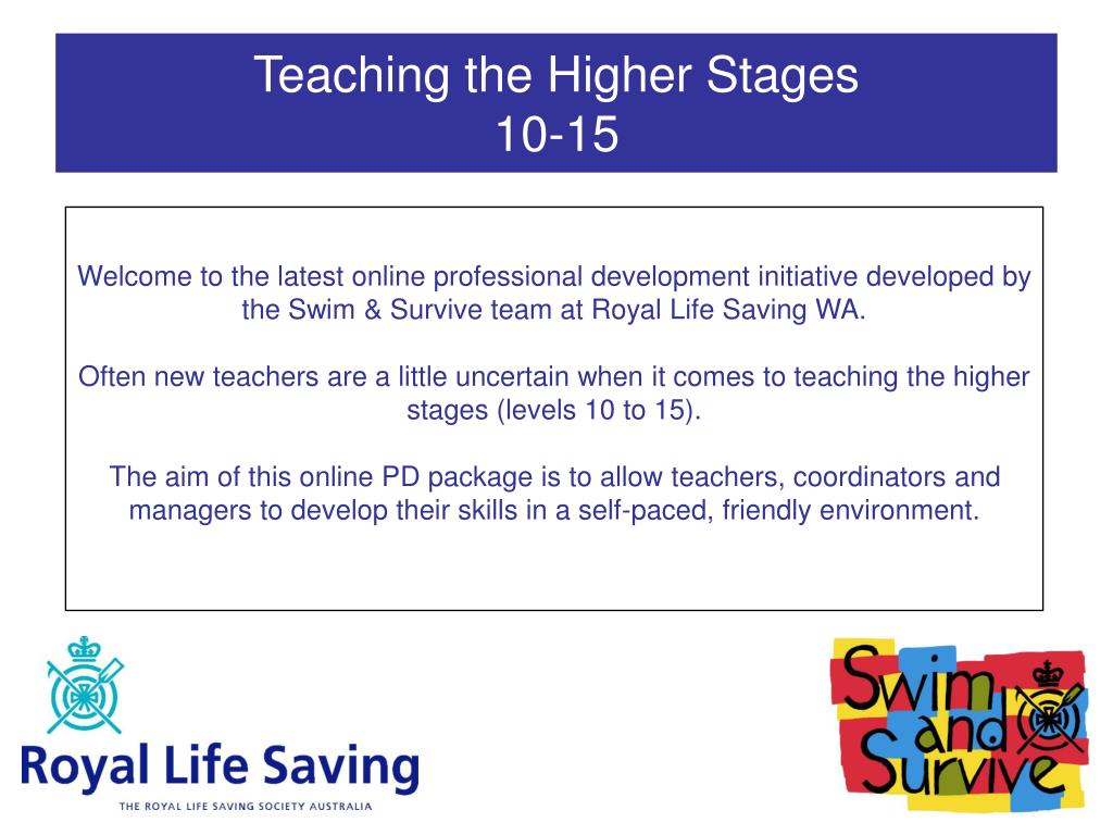 teaching the higher stages 10 15 l.