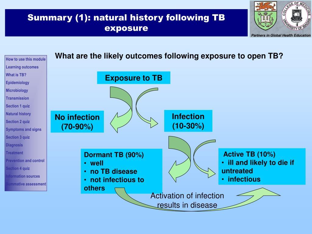 Summary (1): natural history following TB exposure