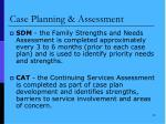 case planning assessment