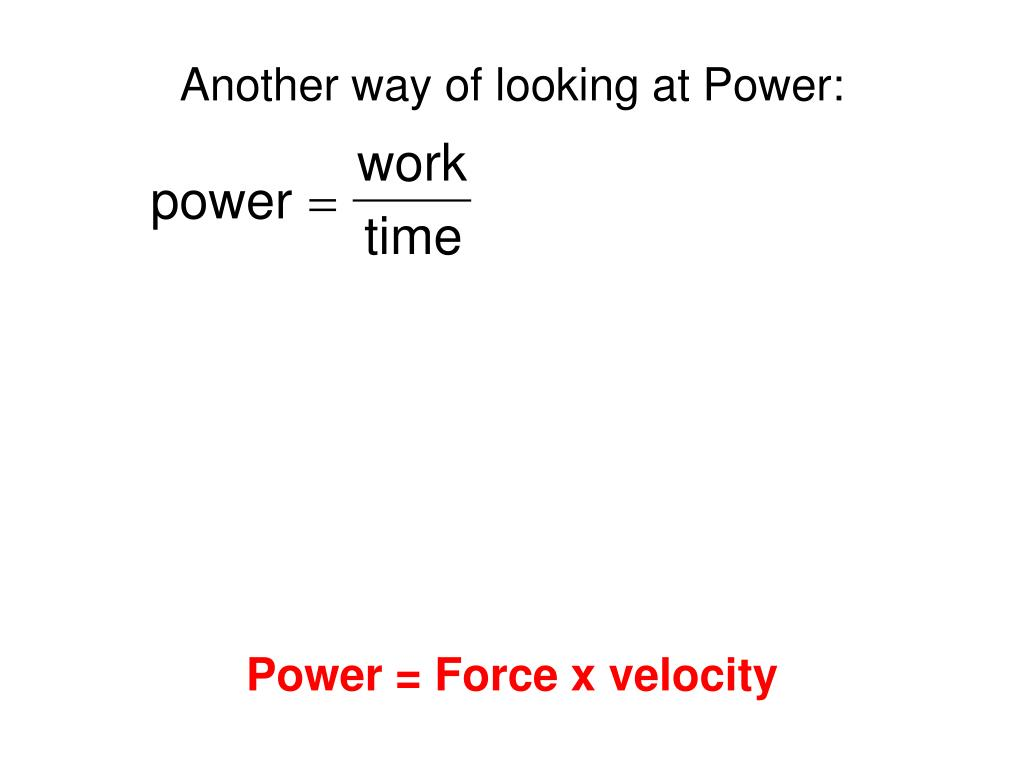 Another way of looking at Power: