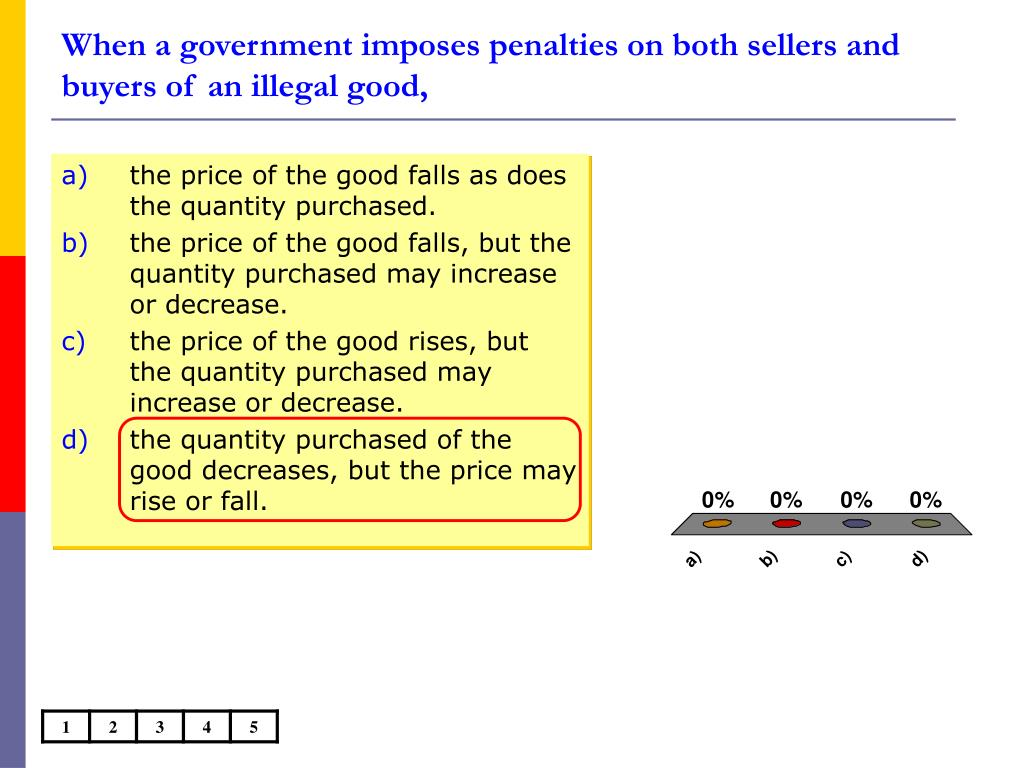 When a government imposes penalties on both sellers and buyers of an illegal good,