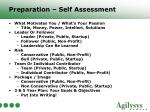 preparation self assessment