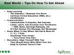 real world tips on how to get ahead19