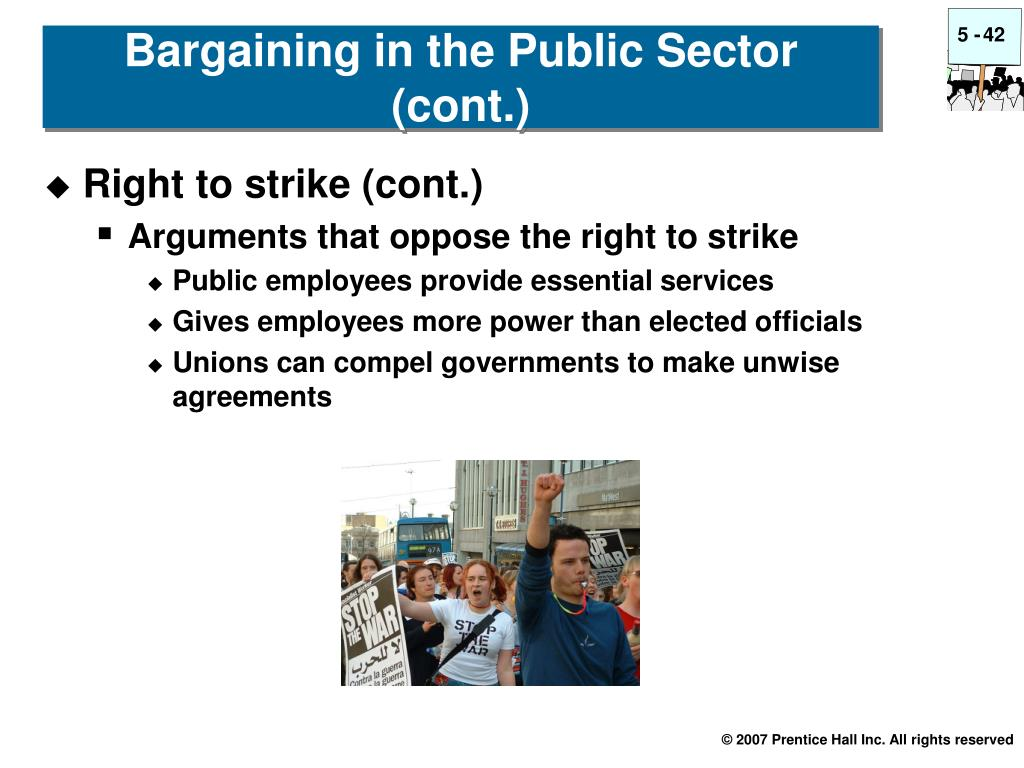 Right to strike (cont.)