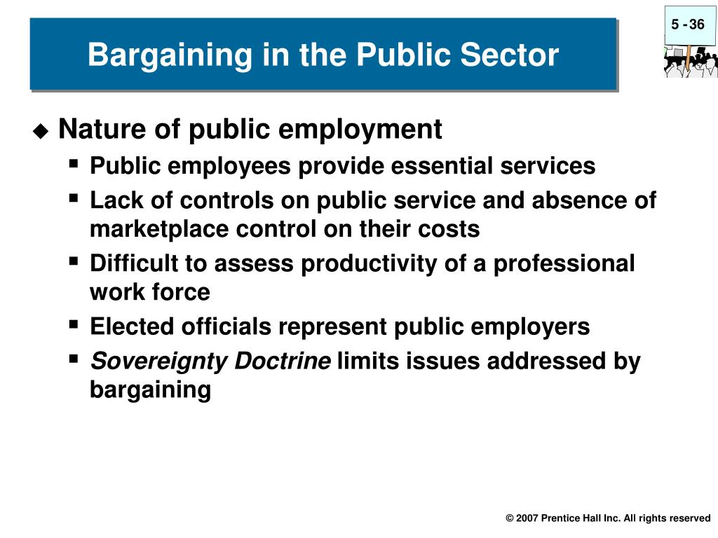 Bargaining in the Public Sector