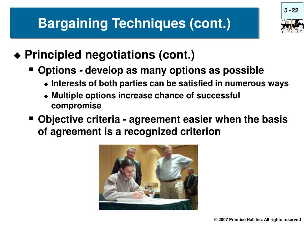 Principled negotiations (cont.)