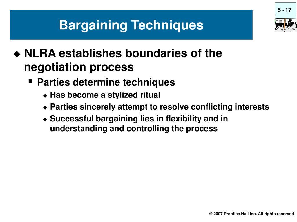 Bargaining Techniques