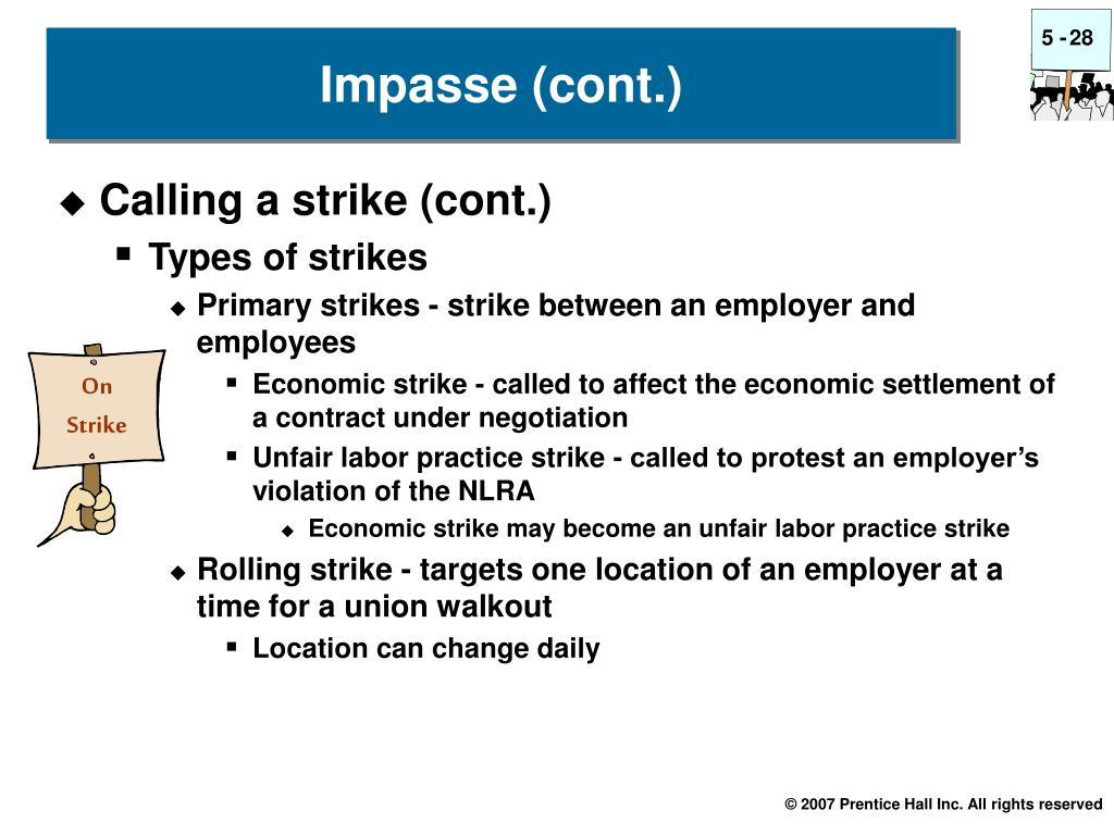 Calling a strike (cont.)