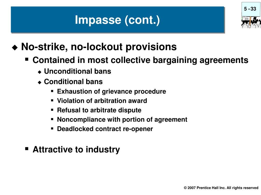 No-strike, no-lockout provisions