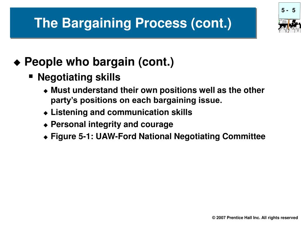 People who bargain (cont.)