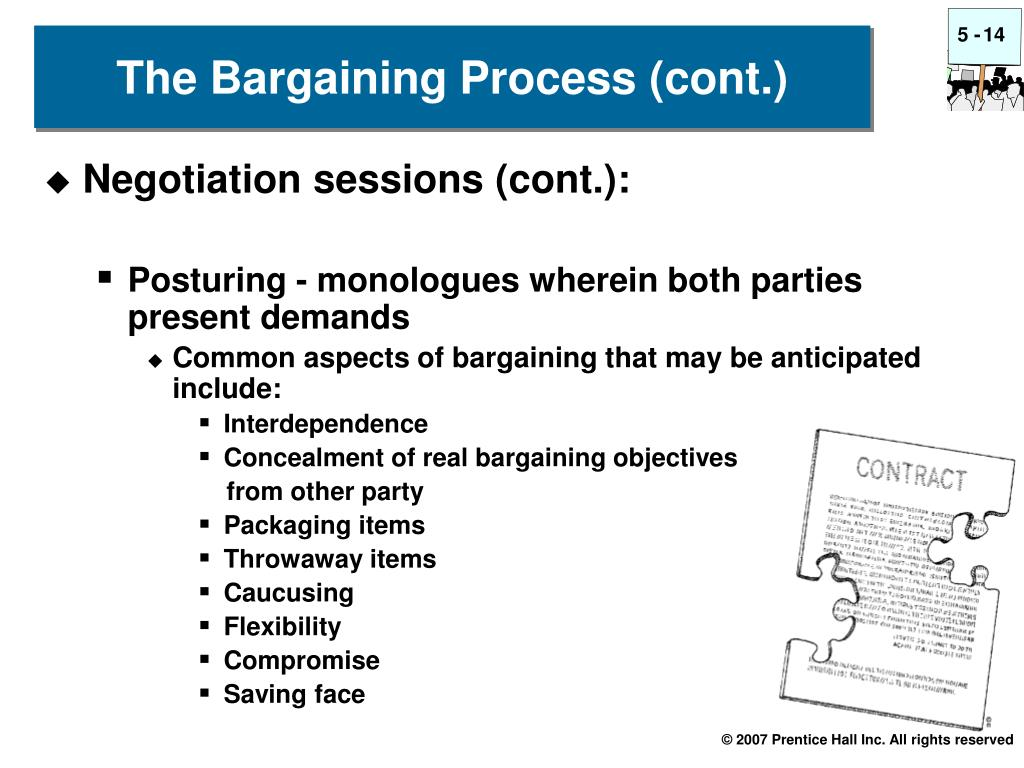 Negotiation sessions (cont.):