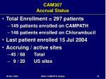 cam307 accrual status