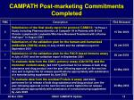 campath post marketing commitments completed