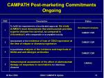campath post marketing commitments ongoing