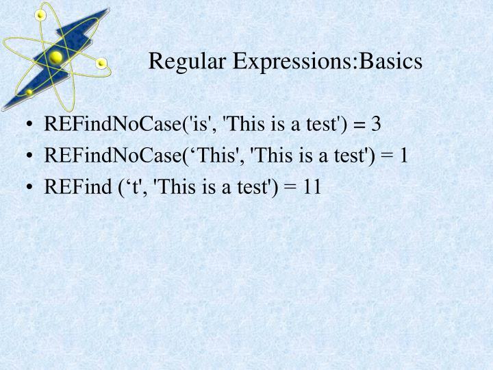 Regular Expressions:Basics