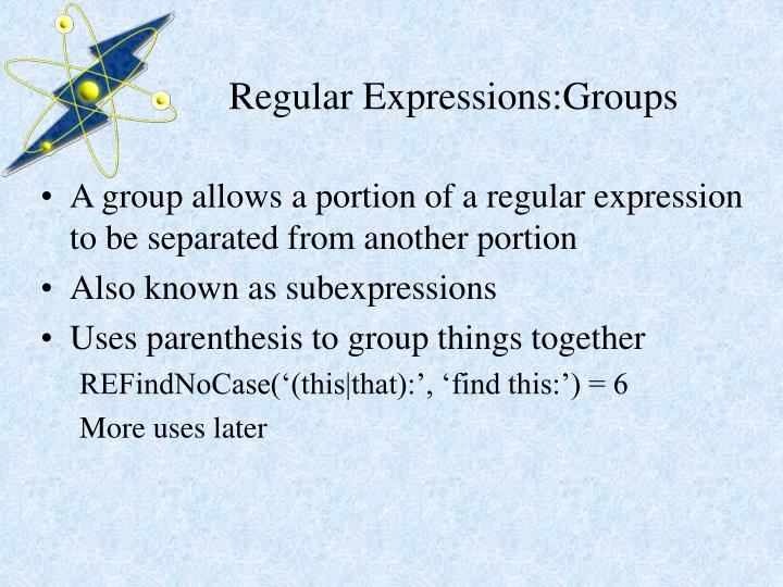Regular Expressions:Groups
