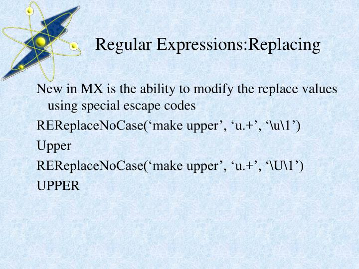Regular Expressions:Replacing