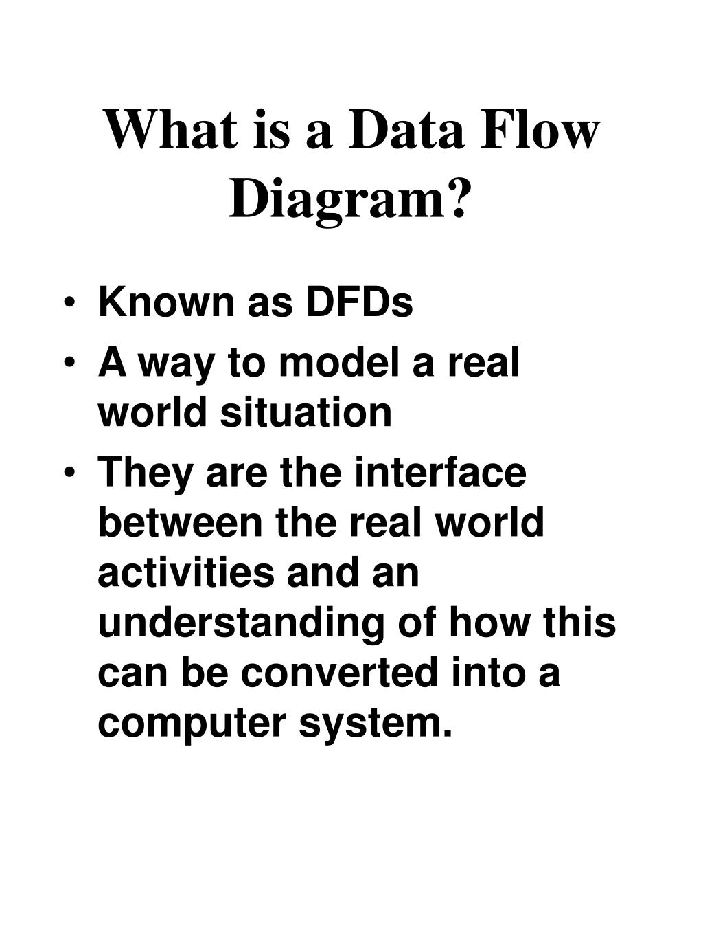 What is a Data Flow Diagram?