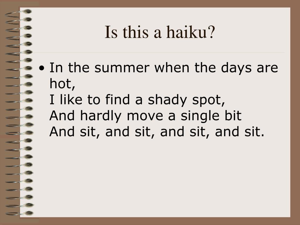 Is this a haiku?
