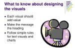 what to know about designing the visuals