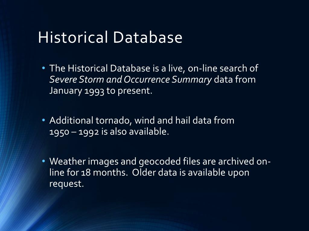 Historical Database