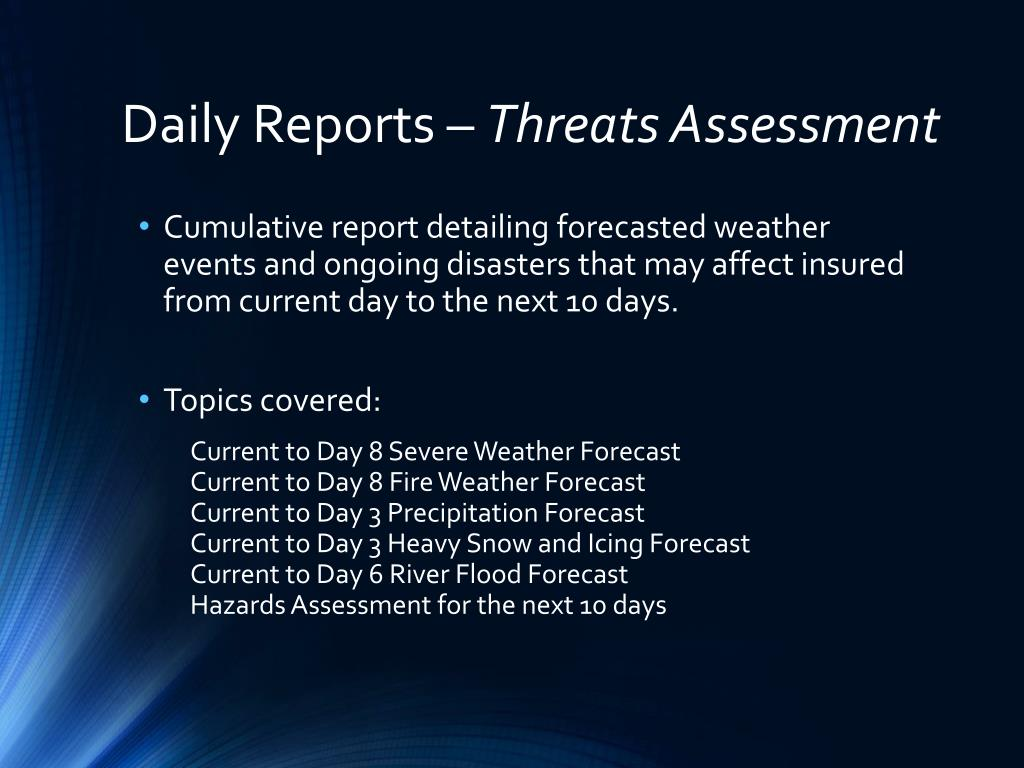 Daily Reports –