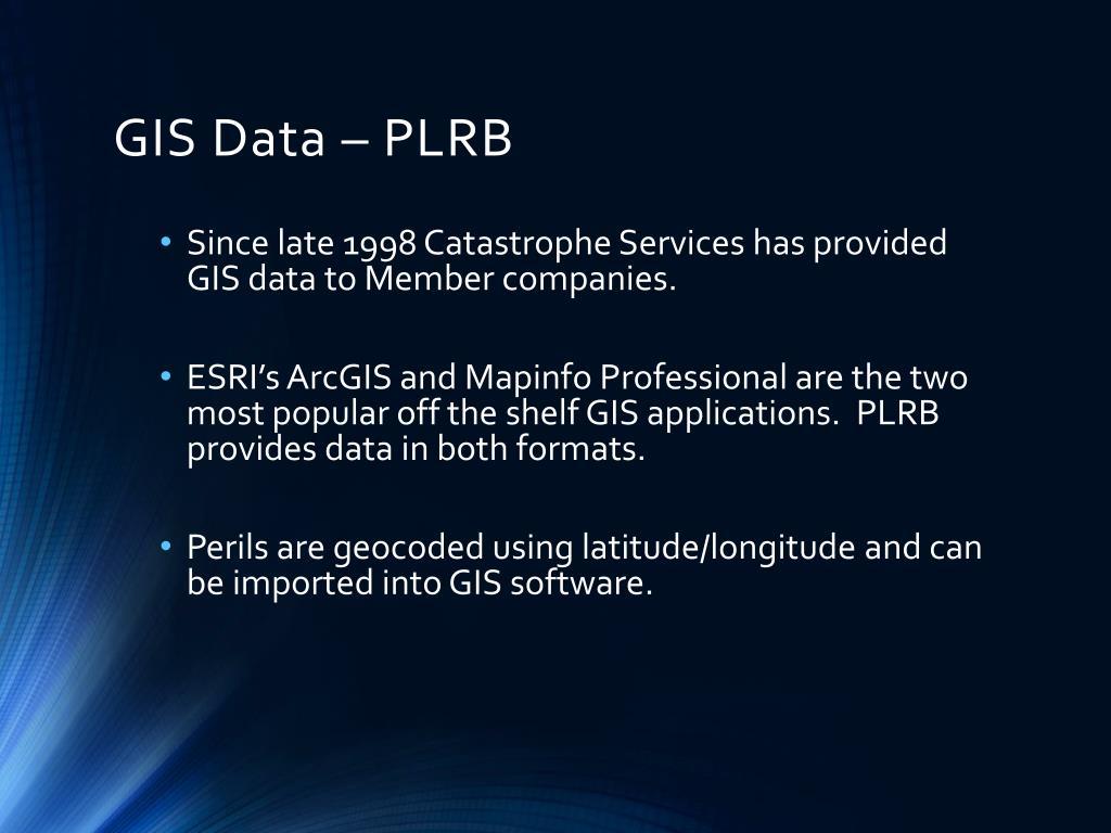 GIS Data – PLRB
