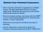 remind your potential customers