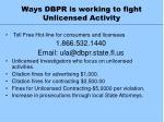 ways dbpr is working to fight unlicensed activity