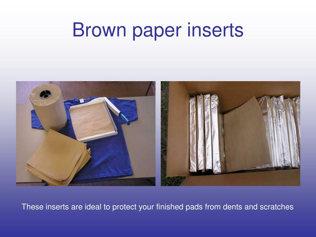 Brown paper inserts