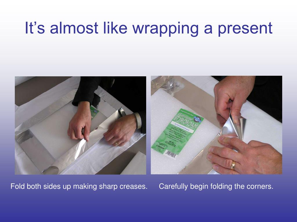 It's almost like wrapping a present
