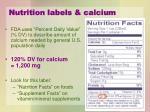 nutrition labels calcium