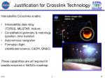 justification for crosslink technology