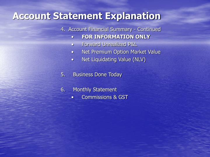 Account statement explanation3