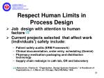 respect human limits in process design