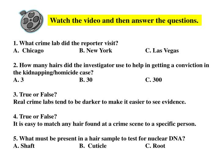 Watch the video and then answer the questions.