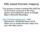 kml based thematic mapping