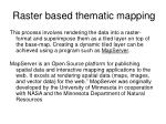 raster based thematic mapping