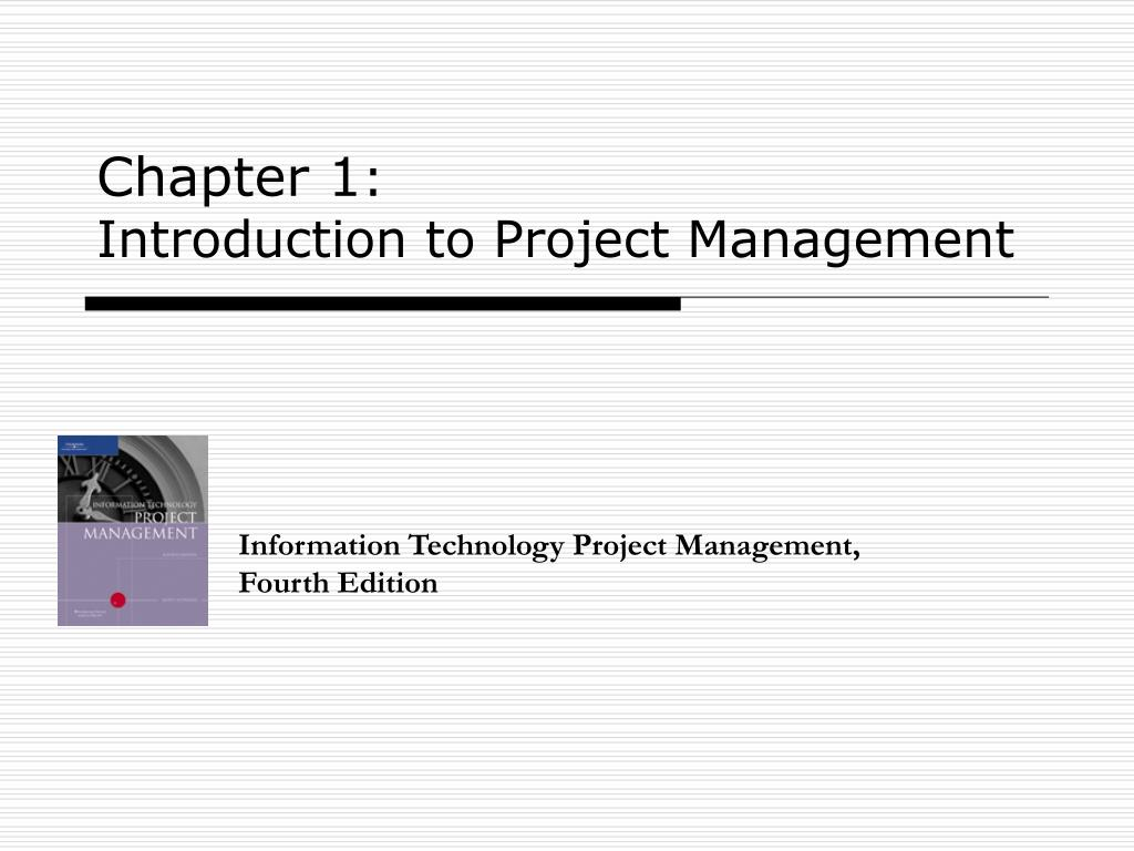 chapter 1 introduction to project management l.