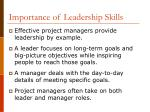importance of leadership skills