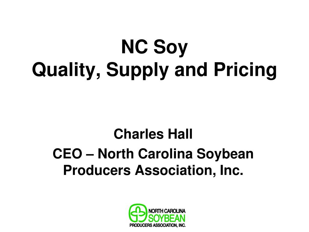 nc soy quality supply and pricing